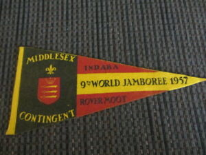 Four Boy Scout Pennants-9th World Jamboree 1957