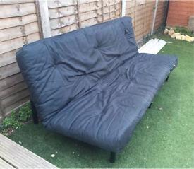 Argos ColourMatch Clive 2 Seater Futon Sofa Bed - Jet Black