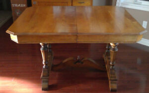 *Antique Solid Maple Table with Extension*
