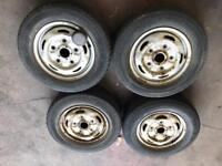 """4x 15"""" Ford Transit Steel Wheels and Tyres"""