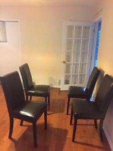 4 chaises simili cuir bouclair