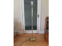 Vintage Brass standard lamp with shade