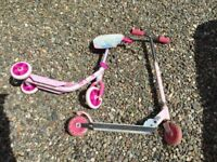 2 scooters pink
