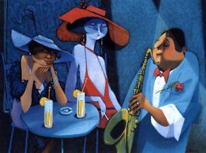 Claude Lafleur - COTTON CLUB giclee 18x24 po Jazz tableau