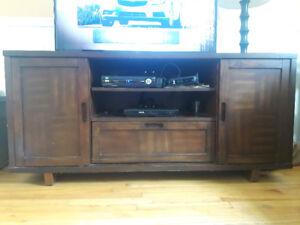 Meuble télé,foyer électrique,base lit