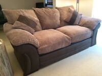 Sofa bed, bed used twice, mattress has always had a cover/protector, clean and no damage.