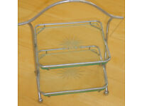 Vintage 2 tier Cake Stand in excellent condition, has cut glass cake trays