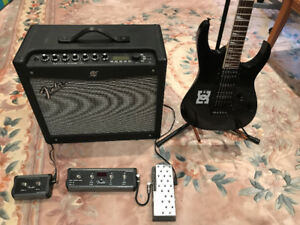 Ibanez RG-370 Electric Guitar with Fender Mustang III amp