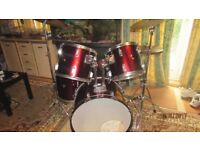 1970's Pearl drum kit with Premier Made in England Snare Drum