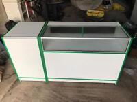 Shop display cabinet / till counter
