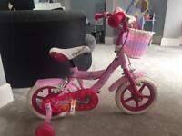 "Girls 12"" pink bike"