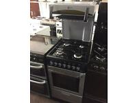 Black & silver flavel 50cm gas cooker grill & oven good condition with guarantee bargain