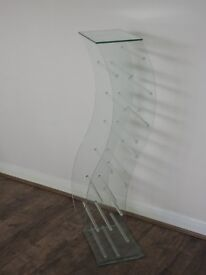 Two Greenapple Pure Glass S Shaped DVD Stands