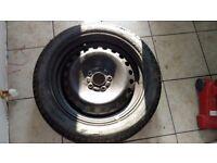 Spare tyre with Wheel and jockey. Suitable for most of the cars