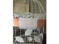 Decorative birdcage for centrepiece or wedding cards
