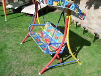 Childs swinging chair/hammock with canopy