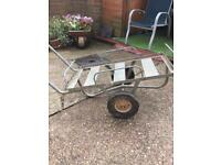 Trolley very well made . Galvanised saw it will last a life time solid tyres saw will never go flat