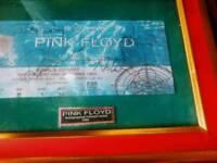 Pink floyd rare autographs