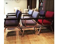 Set of 6 steelcase Chrome office chair