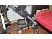 Mothercare Travel System with carry cot, large basket, raincover etc
