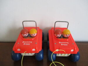 2 Bouncings  Buggy  De Traction Qui  Rebondissent  Vintage  1973