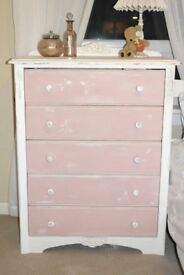 Beautiful Shabby Chic Pink Dragonfly Drawers