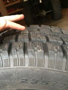 Winter jeep tire on rim