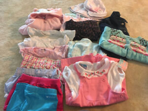 Girls clothes size 6-12 months