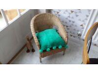 Wicker childs chair