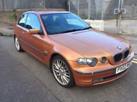 BMW 325TI Compact E46 very good condition, company car forces sale 10 month MOT