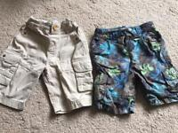 Two pairs of boys 18-24 month shorts £3