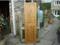 SINGLE PINE PANELLED DOOR - very, very good condition