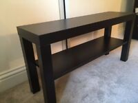 Ikea Lack Black TV Bench, in great condition