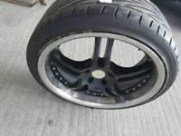 Wolfrace shark alloy wheels set