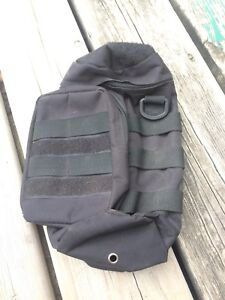 Molle bag for bottle, canteen, air can with front pocket