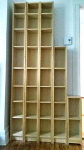 Étagère bibliotèque Ikea Gnedby plaquée bouleau