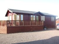 Three bedroom holiday lodge on 5-star site with indoor pool. Sea view. Dumfries and Galloway
