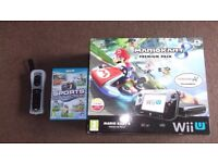 wiiu 32g black with 11 games