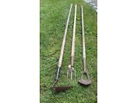 Antique Garden Hand Tools. 3 types. Price Drop. Just £5 each