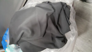 CHARCIAL GREY SHEER CURTAIN FABRIC
