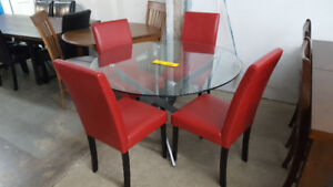 Glass Dining Set with 4 Chairs - Delivery Available