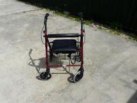 4 wheeled rollator