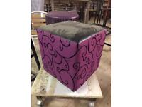 Assorted cube stools. Ex display