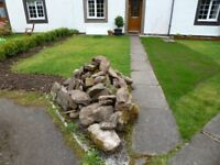 Rocks from Garden Rockery FREE to uplift from Culloden, Near Inverness