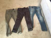 X3 job lot men's jeans - slim fit good condition asos H&M