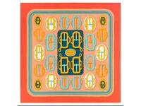 Hermes scarf Bouclerie Moderne RRP£295.00 orange/saumon/vert