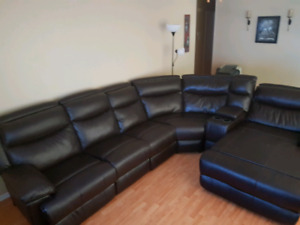 electric sectional set and chair