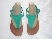 BRAND NEW ladies green sandals - size 6 / 39