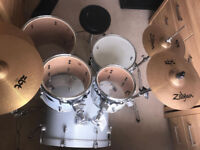 Pearl export drum kit with zildjian ZBT cymbals