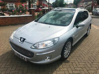 2008 (08) PEUGEOT 407 SW 2.7 HDi V6 GT AUTOMATIC 5 DR FULLY LOADED EXCELLENT CONDITION